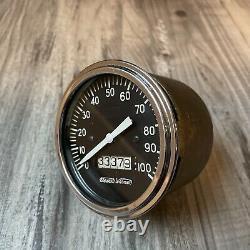 Vintage 100 Mph Speedometer Gauge Scta Hot Rod Dash Panel Trog Stewart Warner