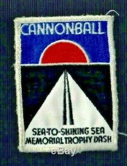 Vintage Patch Cannonball Sea Trophée Course Automobile Dash Ny Darien À Redondo