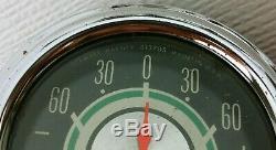 Vintage Stewart Warner Sw Green Line Double Double Dash Sous Gauge Set Oil & Ampère