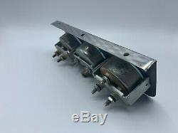 Vintage Stewart Warner Triple Sous Gauge Dash Set Chrome 1960