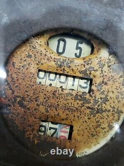 Vintage Unrestored Stewart Warner Ovale Tachymètre Compteur Kilométrique 20 Est 30 Rare