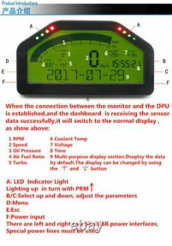 Voiture Dash Race Display Bluetooth Sensor Kit Dashboard LCD Screen Digital Gauge Au